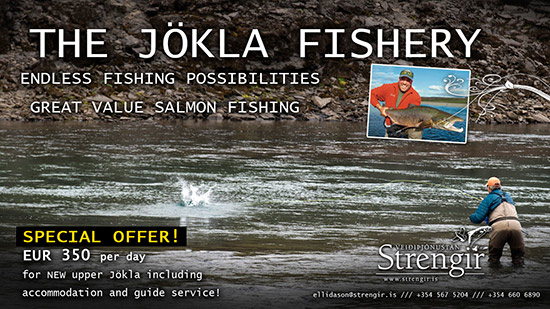 Strengir will offer special deal  on the NEW fishing in Upper Jökla!