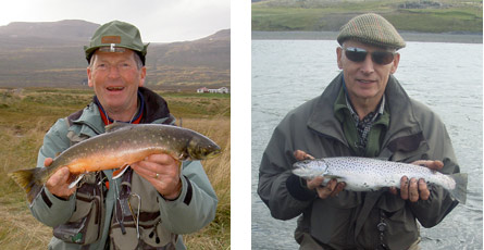 Both char and sea-trout are caught in this fishery, as well as brown trout