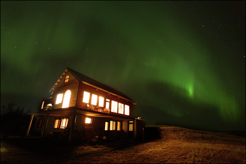 Our lodges are open all year and you can see the famous Northern Lights while visiting us in the winter from October to March